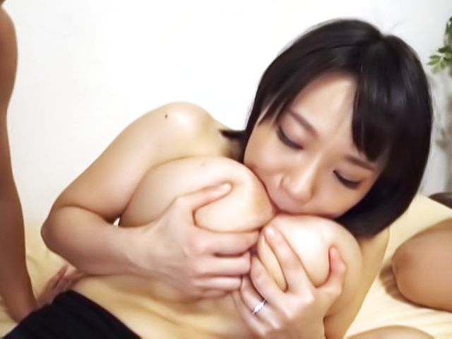 kinky Kaho Shibuya gets her shaved muff drilled hard