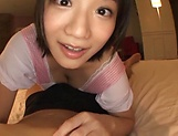 Pretty Asian babe Kaho Shibuya in raunchy POV scene