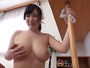 Wakatsuki Mizuna ,showcases her big tits
