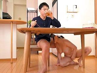 Big tits housewife Tsukimoto Ai masturbates and gets screwed
