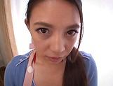 Wild Asian babe Mako Oda enjoys sex toys