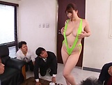 Chitose Saegusa, featured in a lovely foursome picture 12