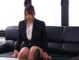Chitose Saegusa, gets a messy cum in mouth