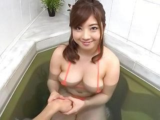 Nakamura Chie plays with cock in perfect POV oral