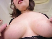 Busty woman in lingerie got banged hard