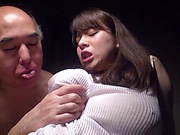 Japanese brunette with big tits had sex