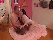Mikoto Narumiya, has her gaping hole stretched
