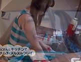 Amane Arisu gets a large cock to smash her muff