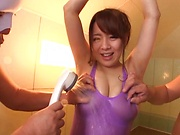 Mishima Natsuko enjoys a sensual soaping session