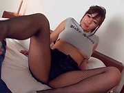 Sara Saijou provides nudity and foot fetish on cam