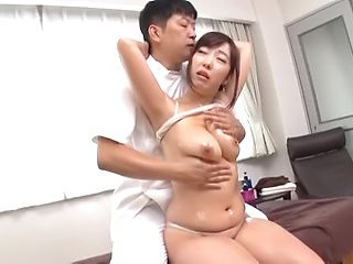 Hot milf slammed after erotic massage with hunk stud