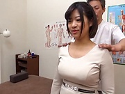 Big tits hot lovely honey enjoys an erotic massage session