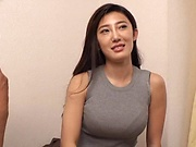 Busty Japanese milf,severe sex on the couch