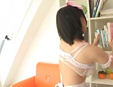 Sexy maid ,Kaho Shibuya, pleasured to orgasm