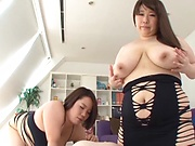 Busty milfs are having a threesome