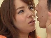 Mishima Natsuko loves a sensual kiss and caressing session