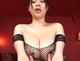 Busty Japanese angel gets a wild hardcore session