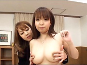 Mature beauty queen Kazama Yumi loves dyke sex