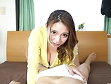 Busty Mako Oda deals a generous cock in perfect POV picture 11