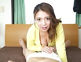 Busty Mako Oda deals a generous cock in perfect POV picture 13