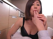 Shiori Misato gets kitchen fucked in hardcore