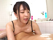 An Mashiro in complete hardcore massage session