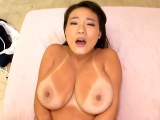 Big tits Asian hottie experiences the hottest fuck