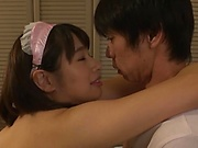 Hana Haruna takes young cock in her tiny holes