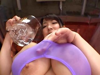 Naughty babe Yuzuki Marina gets her huge oiled boobs fucked hard