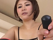 Busty Japanese milf fucked by a younger man