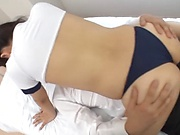 Naughty brunette fucked a doctor