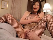 Horny woman is riding a hard meat stick