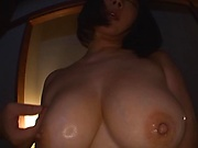 Arisa Hanyuu jizzed on face after a wild POV blowjob