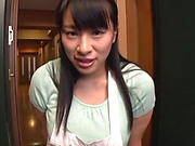 Dripping wet milf Haruna Hana gets tits fucked in POV