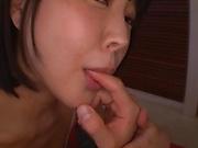 Busty Arisa Hanyuu gets working one a big dick