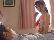 Hot Japanese cosplay babe Katou Honoka gets a pounding