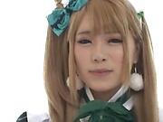Hot Japanese babe got a fresh creampie