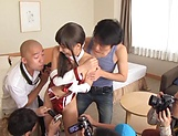 Japanese AV model spicy threesome cosplay picture 9