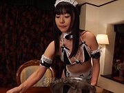 Lovely Tsubomi enjoys a wild hand job action