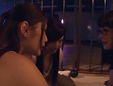 Three admirable girl from Tokyo lick a submissive dude picture 10