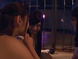 Three admirable girl from Tokyo lick a submissive dude picture 12
