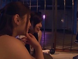 Three admirable girl from Tokyo lick a submissive dude picture 13