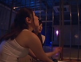 Three admirable girl from Tokyo lick a submissive dude picture 2