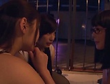 Three admirable girl from Tokyo lick a submissive dude picture 9