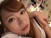 Stunning Japanese maid Ogawa Rio gets the best fuck ever