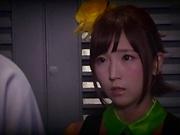 Super hot Japanese teen Sakura Kizuna in a wild sex action