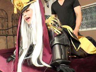 Hakii Haruka takes large cock during naughty cosplay