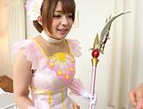 Hot Japanese av model lifts skirt for cock