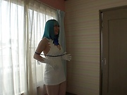 Busty cosplay milf amazing sex in the bedroom