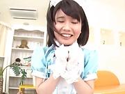 Smoking hot Japanese teen Kurii Mii gets pleasure of amazing sex
